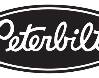 Peterbilt vinyl decal for your truck/car window, laptop, phone, Yeti tumblers, and more! CUSTOM SIZES & COLORS!