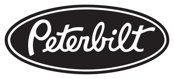 Peterbilt vinyl decal for your truck/car window laptop
