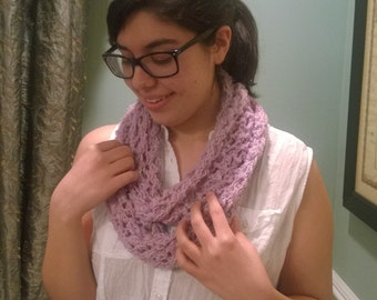 Purple/Pink Spring Infinity Scarf