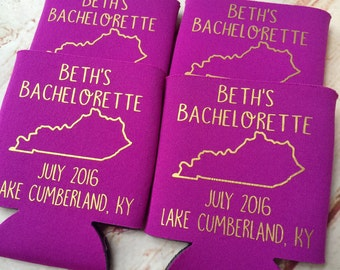 Bachelorette Party Favors - Bachelorette Can Coolers - Fun Wedding Favors - Personalized Bridesmaid Gift  - Bachelorette Party