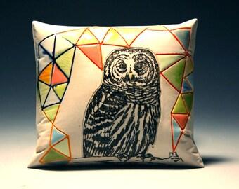 Geodesic OWL (porcelain wall pillow)