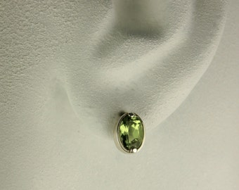peridot Silver earrings