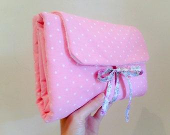 Changing mat Nomad pink and liberty