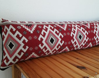Kilim lumbar pillow, body pillow, decorative kilim pillow cover, handmade kilim cushion, bohemian decor, boho body pillow, bohohome
