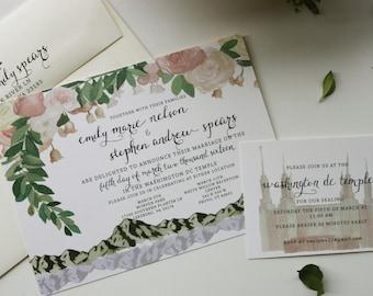 Custom Watercolor Invites