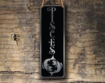 PISCES ZODIAC SIGN Wall Art Sign, Pisces Wall Plaque, Pisces Hanging Plaque, Pisces Star Sign, Pisces Star Sign Art, Zodiac Pisces, Pisces