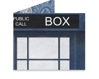 Doctor Who Tardis Tyvek Wallet - Dr Who Police Box - BBC