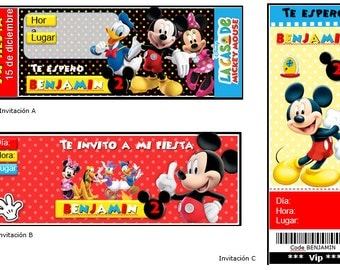 Mickey mouse editable kit - printable