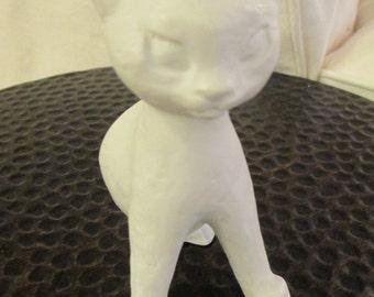 ROSENTHAL 1950s Germany Porcelain CAT Figurine Professor Theodor Karner 5239-2