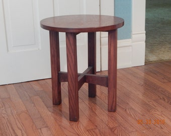 Arts and Crafts style tabouret