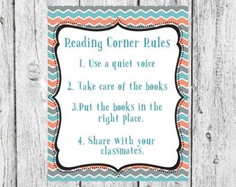 Classroom Reading Corner Rules,