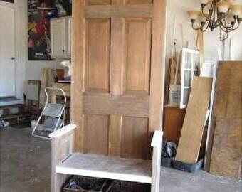 Old Door Hall tree bench