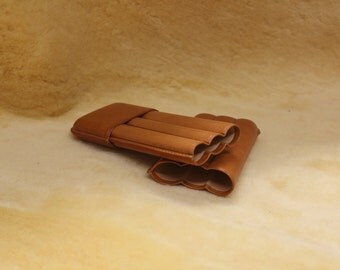 Cigar-case leather in large