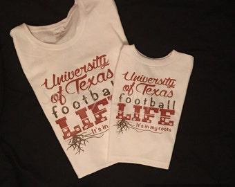 Mommy and Me, UT, University of Texas, football, Texas, Longhorn shirt