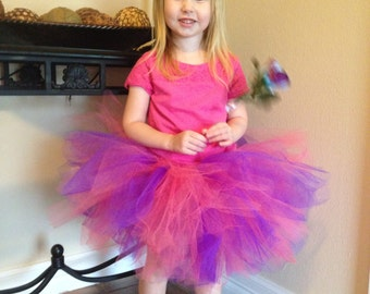 Super Fluffy Pink/Purple tutu skirt- baby tutu- toddler tutu- birthday tutu- girls