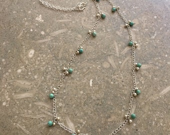 Southwestern Turquoise Silver Necklace