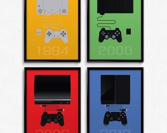 PlayStation Inspired Minimalist PlayStation Prints SET