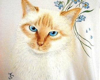 Portrait of cat on t-shirts