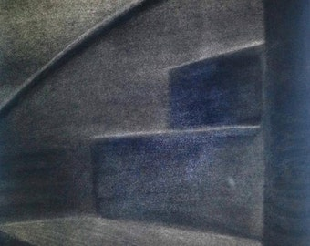 Dark spiral staircase