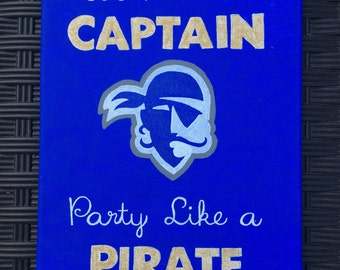 College Logo and Slogan Canvas