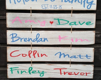 Hand painted wooden sign (Dad, Mom, Grandparents)