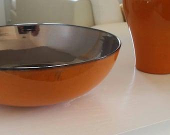 Orange ceramic bowl and Platinum
