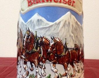 Vintage-1985 Budweiser Clydesdale stein