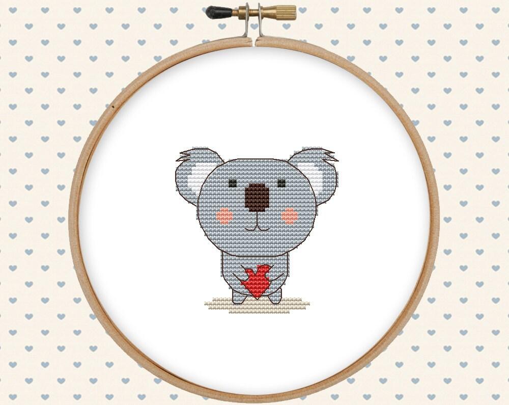 Counted cross stitch pattern koala bear by gentlefeather