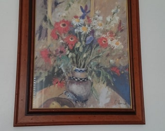 Oil painted flowers by OLENICK