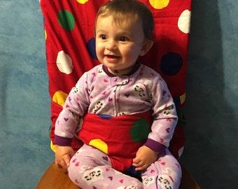 Portable fabric high chair