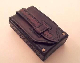 Tarot leather deck box case bag Rider Waite cards