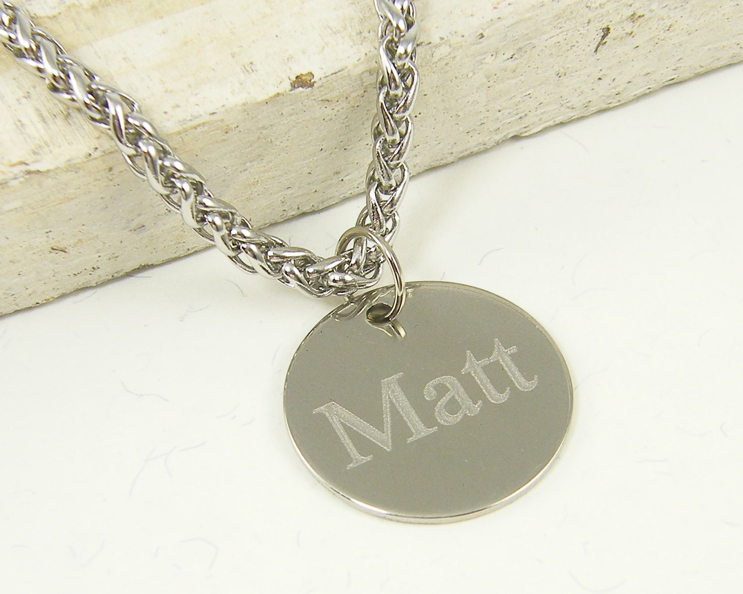 engraved mens necklace custom name necklace stainless