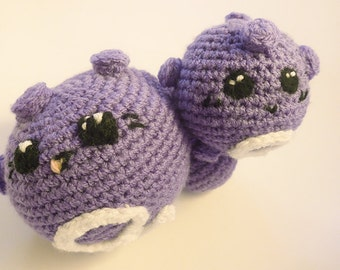 Koffing or Weezing kawaii crochet plush - amigurumi