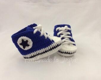 Converse Crochet Inspired, Baby crochet Converse, Sneaker Crochet, Baby Shower gift