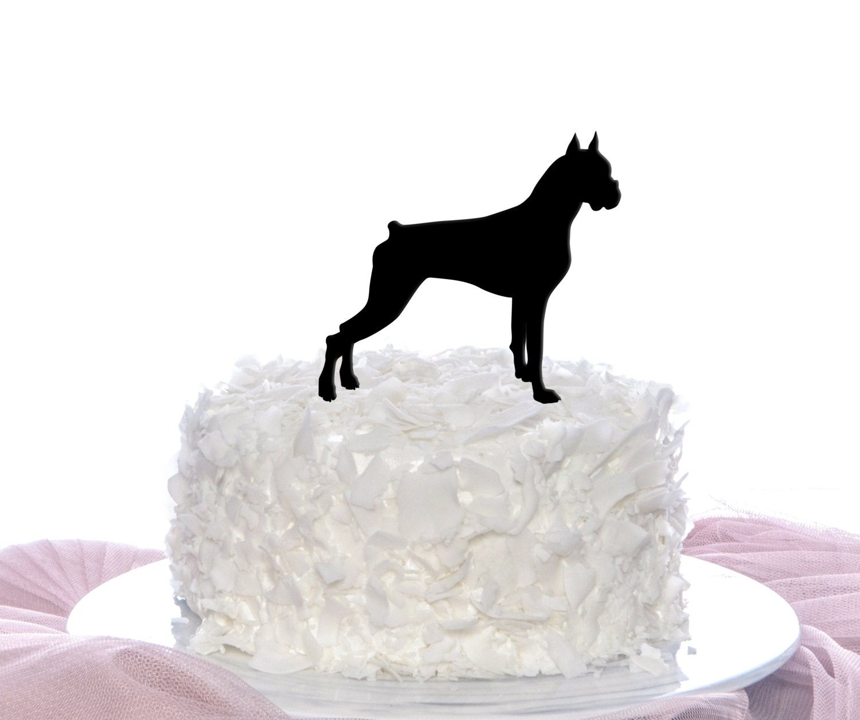 Boxer Dog Cake Topper Wedding Cake Topper by
