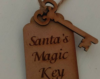 Santa's magic key, Christmas decorations, Christmas gift, gift for kids, children's keepsake, Christmas keepsake, rustic home decor, Xmas