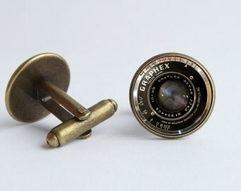 Old camera lens cufflinks Men jewelry Husband gift Cufflinks lens Men accessories Vintage camera lens Photographer gift Cufflinks for men