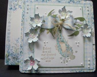 hand made greetings  card...baby boy