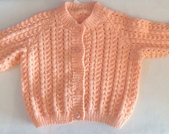 Little Girls Hand Knitted Cardigan