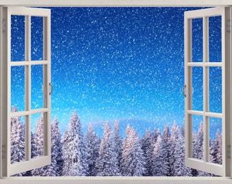 3D Window Wall Decal WINTER