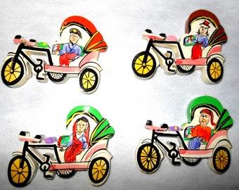 Indian Fridge magnets souvenirs memorabilia gift - cycle rickshaw