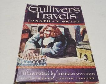 FREE SHIPPING - Gulliver's Travels by Jonathan Swift - vintage retro adventure kid kid's children children's classic classics literature