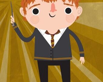 Ron Weasley Art Print | Harry Potter | Note Card
