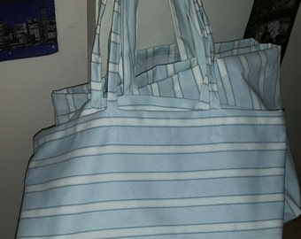 Striped Vertical & Horizontal Grocery Shopping Tote Bags