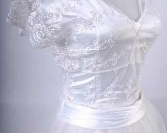 Lace -tulle wedding dress