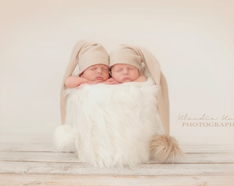 newborn twins pixie hat set photography prop