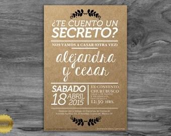 full kit wedding paper invitation