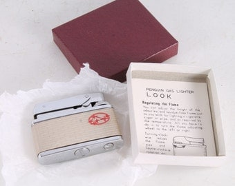 New Old Stock Vintage Look Penguin Subaru Lighter With Box.