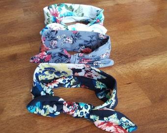 3 Pack Floral Headbands