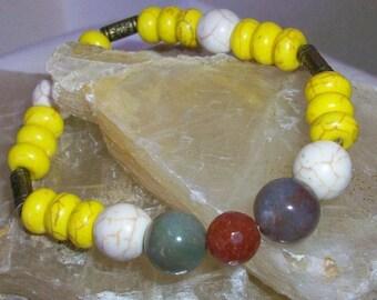 Stretch Bracelet with natural stones, 20 cm